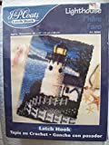J&P Coats Latch Hook Kit - Lighthouse 20'' by 27'' - Features a Lighthouse at night