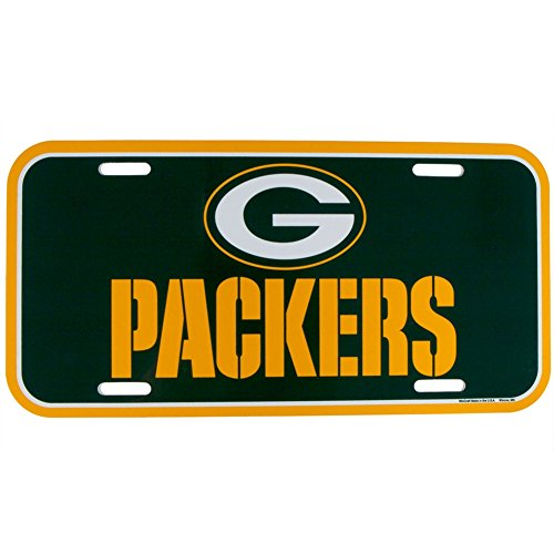- WinCraft NFL Green Bay Packers License Plate, Team Color, Plastic, 1 Size