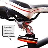 Ultra Bright Bike Light USB Rechargeable, 6 Different modes Waterproof Bicycle Tail Light, Red High Intensity Rear LED Accessories, Fit Any Road Bikes, Helmets. Easy Install Cycling Safety Flashlight