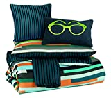 Ashley Furniture Signature Design - Seventy Comforter Set - Includes Comforter, 1 Shams, 1 Bedskirt, & 2 Accent Pillows - Twin Size - Striped