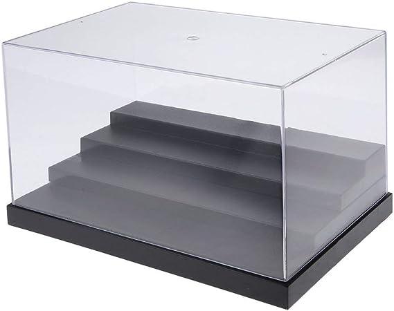 Tubayia acrílico 4 Pasos Polvo Densidad Vitrina Display Case Show Caja Expositor Caja para Figuras de acción/Auto Modelo: Amazon.es: Hogar