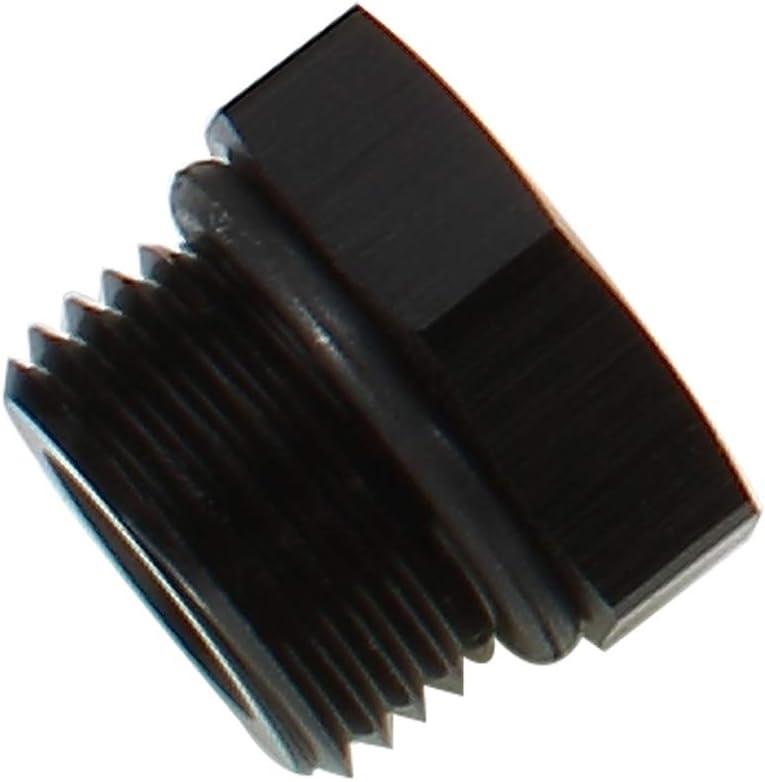Pack of 2 0.63 Black Hose OD 16mm Aluminum Hex Hose Finisher Clamp for 6AN Fuel Hose