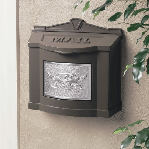 Eagle Accent Wall Mount Mailbox Bronze with Satin Nickel by GAINES MANUFACTURING INC