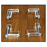 4pc Clear Silicone Furniture Corner Bumpers - Protect Children from Sharp Edges - Self-Adhesive