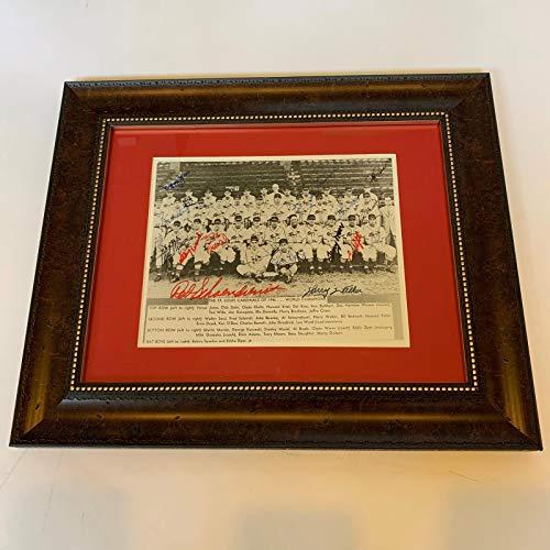 1946 World Series - 1946 St. Louis Cardinals World Series Champs Team Signed Framed Photo JSA COA
