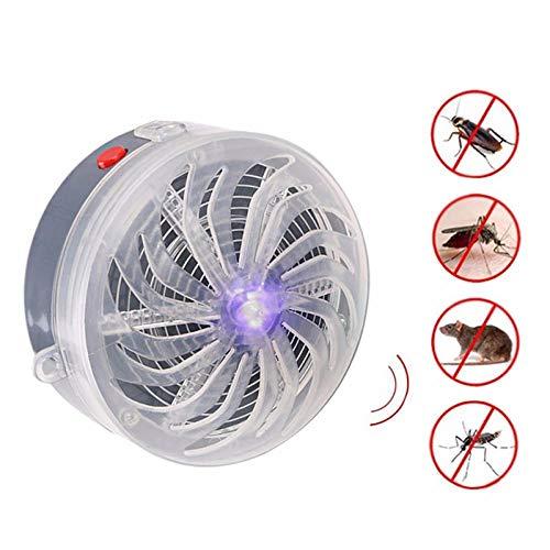 LQLQ Lámpara de Asesino de Mosquitos con energía Solar Lámpara de zumbido Anti Repelente de Mosquitos Insecto Mosca…