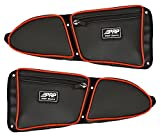Pair of Side Door Bags For Stock 2 Seat Polaris RZR XP 1000 Doors With Red Piping - One Driver Side Bag, One Passenger Side