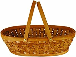 "Wald Imports Brown Woodchip 15"" Decorative Storage Basket"