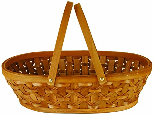 Brown Woodchip Double Handled Basket
