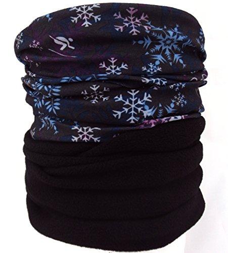 Arcweg 18 Long Elastic Fleece Neck Tube Winter Thermal Neck Warmer Men Women Versatile As Half Face Mask Headband Beanie Skull Cap For Motorcycle Ski Snowboarding Black