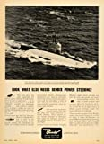 1958 Ad Bendix Aviation USS Albacore US Navy Submarine - Original Print Ad