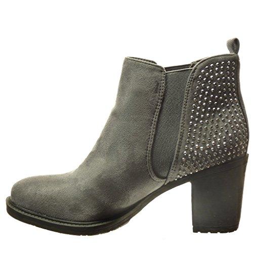Angkorly Zapatillas de Moda Botines chelsea boots mujer