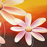 Canvas Prints Of Oil Painting ' Pink Daisies Canvas Print ' , 12 x 12 inch / 30 x 30 cm , High Quality Polyster Canvas Is For Gifts And Gym, Hallway And Home Theater Decoration, art printing