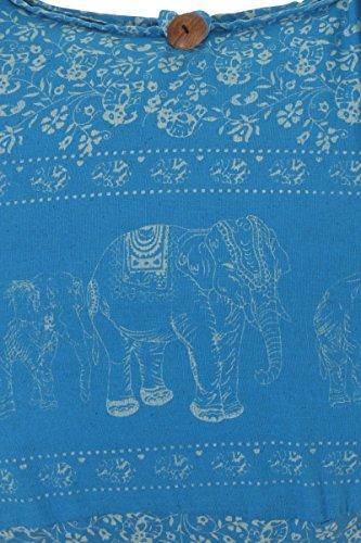 viaje mano elefante de bolsa celeste de hombro Sling de algodón nbsp;playa bolso azul Gypsy nbsp;100 nbsp;– Boho diseño bolsa nbsp;– Thai hippy Y4gqxaOg