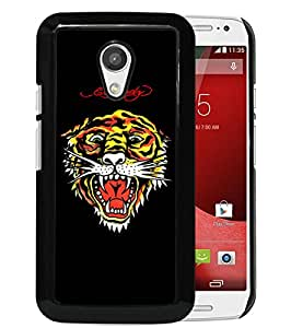 For Moto G 2nd,Ed Hardy 30 Black Case Cover For Motorola Moto G (2nd generation)