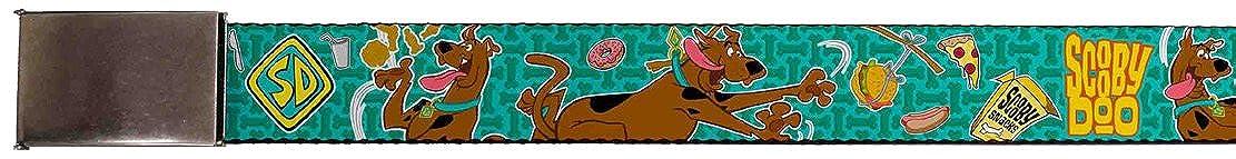 Buckle Down unisex-adult standard Buckle-Down Web Belt Scooby Doo 1.5