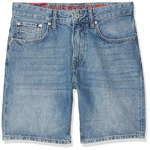 Superdry Shorts Herren Conor Taper Short Samson Blue