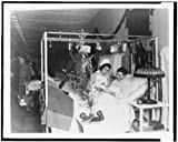 Photo: American Red Cross Nurse,Soldier,Hospital Bed,Christmas Decorations,1915-1930