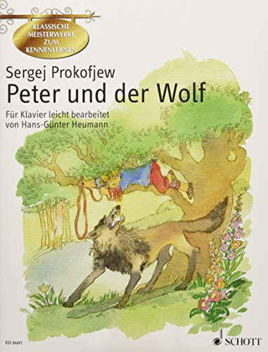 PETER AND THE WOLF (GERMAN) EASY ARRANGEMENT FOR PIANO GET TO KNOW CLASSICAL MSTRPCS