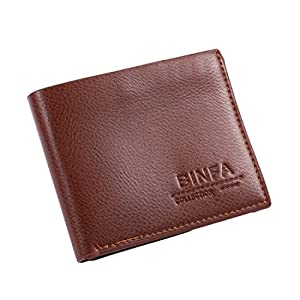 ICCUN Mens Synthetic Leather Wallet Magnetic ID Credit Card Holder Money Clip Wallets