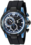 Technomarine Men's TM-614001 UF6 Stainless Steel Watch with Black Band