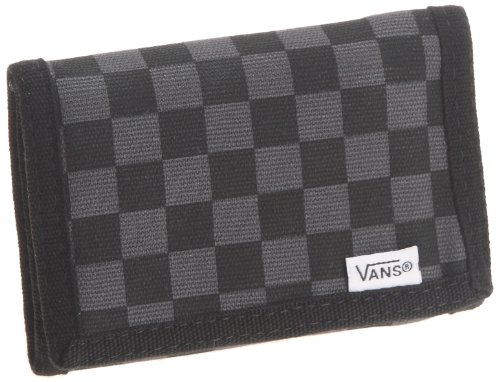 Vans Men's Slipped Trifold Wallet, Black/Gunmetal , NULL from Vans