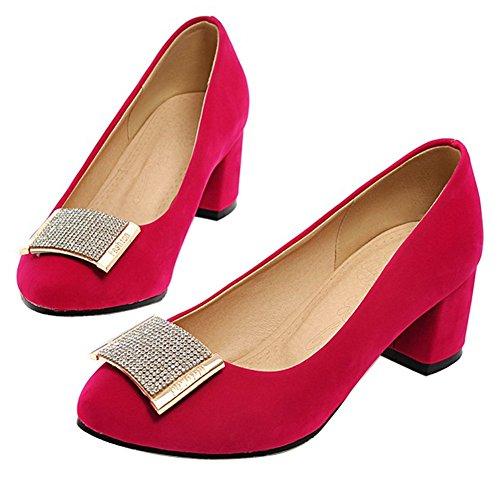Enmayer Dames Casual Shopping Werkkleding Pumps Rood