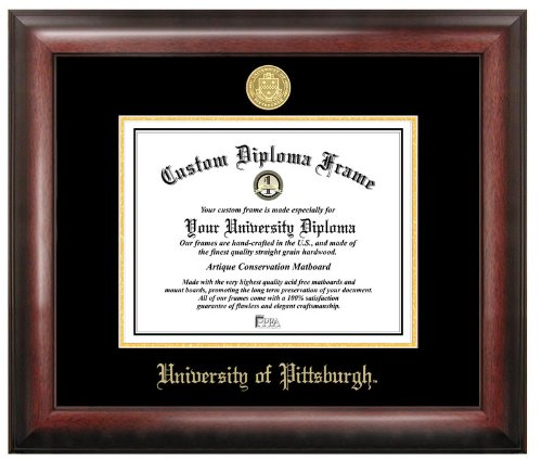 University of Pittsburgh Gold Embossed Diploma Frame by Campus Images