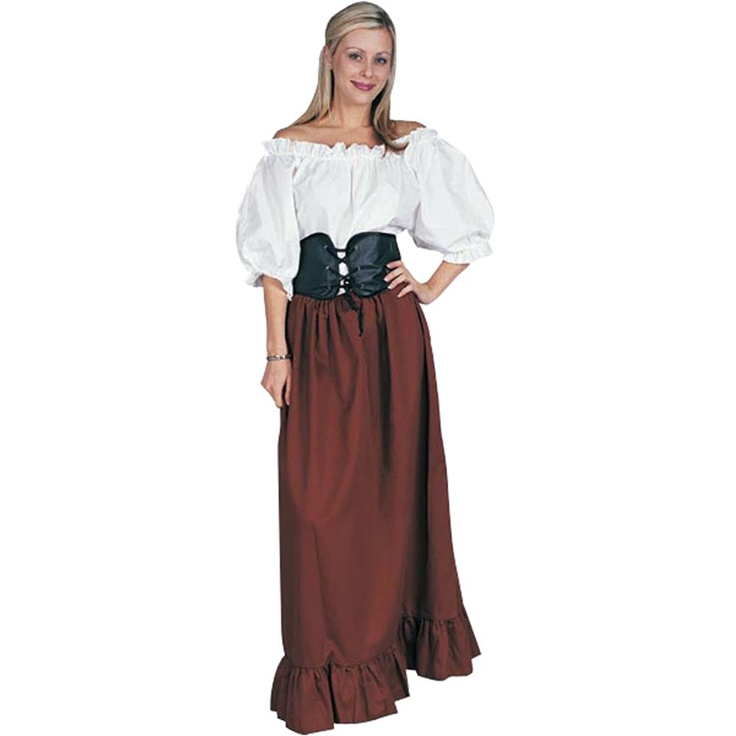 Amazon.com Adultu0027s Renaissance Peasant Lady Halloween Costume (Size Standard 8-12) Clothing  sc 1 st  Amazon.com : medieval peasant girl costume  - Germanpascual.Com