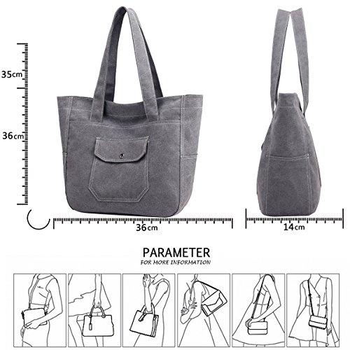 donna bag di grande capacità shopping Nuova da americana capacità Tisdaini shopping bag europea di borsa grande e Grigio bag di tela Borsa Tote qxSPwt8
