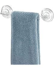 "iDesign Plastic Power Lock Suction Towel Bar, Holder for Bathroom, Kitchen, Laundry Room, Mudroom, 11.2"" x 5.65"" x 2.35"","