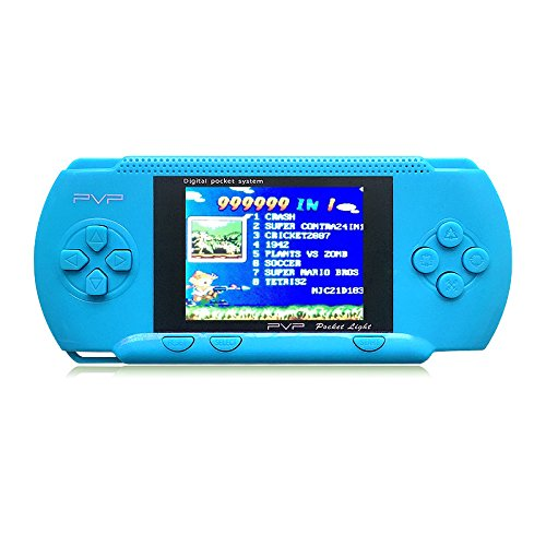 JXD Handheld Game Console PVP Classic 8bit Portable Video Game Console Built-in 999999 IN 1 Games NES Games Support AV Cable Christmas Halloween Birthday Gifts ... (GM01027BlueUS)