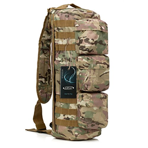 UPC 707137681156, G4Free Tactical Assault Messenger Gym Hiking Camping bag (CP Camouflage)