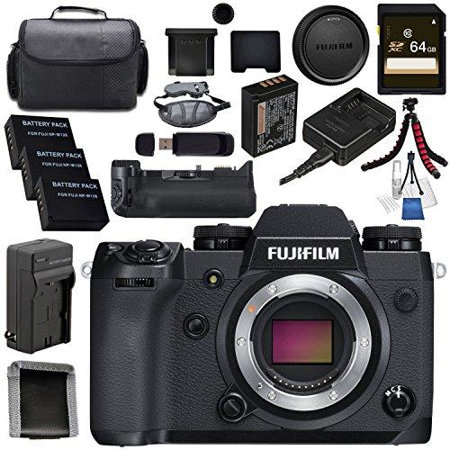 Fujifilm X-H1 Mirrorless Digital Camera (Body Only) 16568731 VPB-XH1 Vertical Power Booster Grip Bundle