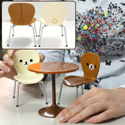 Re-Ment San-X Rilakkuma Miniature Cafe Table and Chair Set
