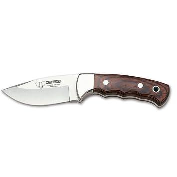 Cudeman Cuchillo desollador 142-R con Mango de estamina Hoja de 8.5 cm con Funda de Cuero marrón. Unidad en Liquidación