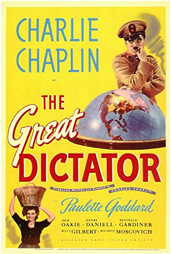 The Great Dictator Poster Movie 11x17 Charlie Chaplin Paulette Goddard Jack Oakie Billy Gilbert - Chaplin Movie Poster