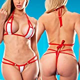 2018 Trim Micro Bikini Set Beach Wild Swimming Lingeries Costumes Sex Teeny Swimwear Female Extreme Women G-String Swimsuit Color 17168 Size One Size