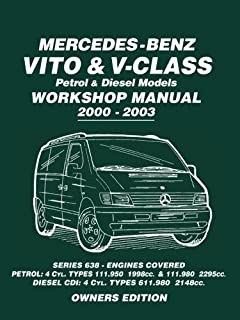 workshop service manual mercedes benz vito and v class cdi models rh amazon co uk mercedes vito 112 cdi owner's manual Mercedes-Benz Vito Interior