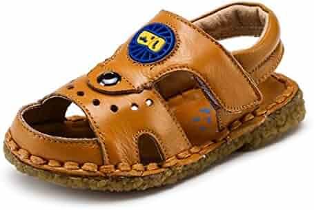 92728bb7e67 BININBOX Summer Breathable Sandals Girl Boys Toddler Kid Shoe Closed-Toe  Half