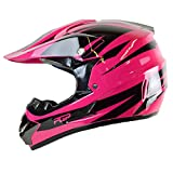 quad helmets for youth - PGR X25 Youth Newage Motocross MX BMX Dirt Bike Dune Buggy Enduro ATV Quad Off Road (Large, Hot Pink)