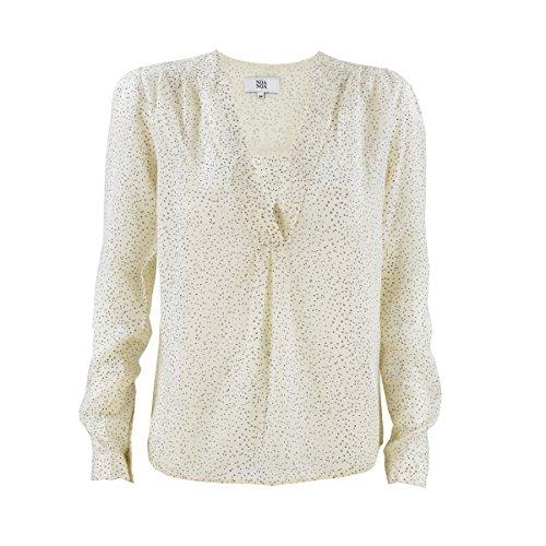 Seidige Viskose-Bluse mit zartem Pünktchen-Design von Noa Noa in Print White