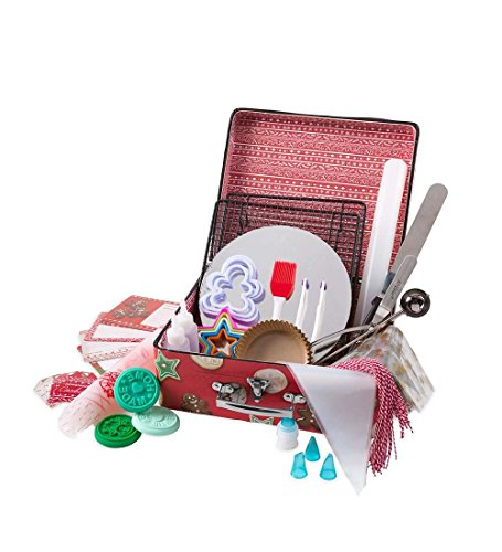 Kid's Crafty Creations Cookie Baking Kit, 119 Pieces, Includes Baking Tools, Gift Bags, Recipes