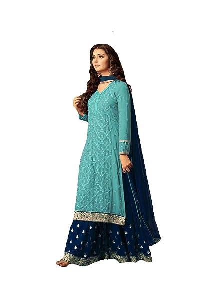 Amazon.com: Delisa indio/pakistaní ropa étnica Georgette ...