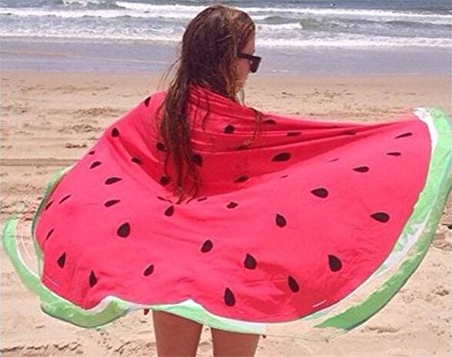 Watermelon Towel - round beach towel with watermelon print