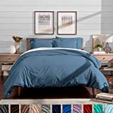 Bare Home Luxury 3 Piece Duvet Cover and Sham Set - King - Premium 1800 Ultra-Soft Brushed Microfiber - Hypoallergenic, Easy Care, Wrinkle Resistant (King, Coronet Blue)