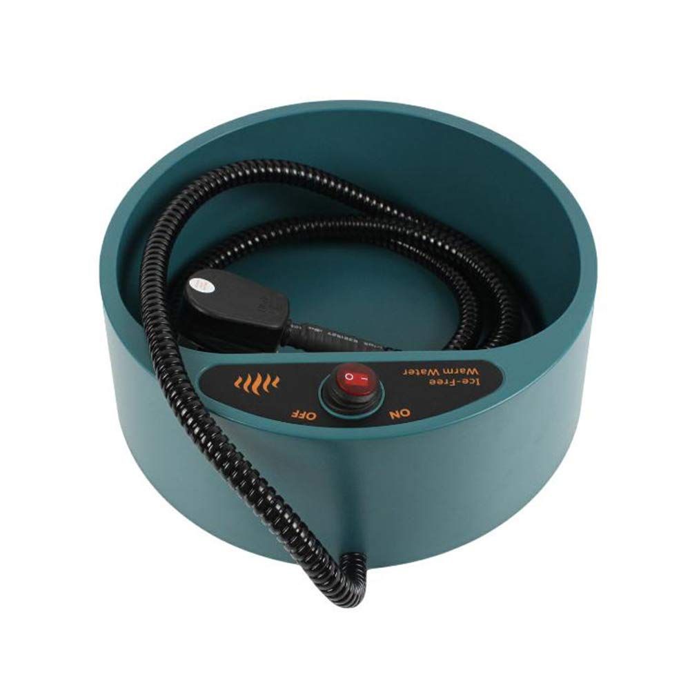 Beheizte Pet Bowl Outdoor oder Indoor Pet Heizungsschüssel Pet Thermal Water Bowl Hund Katze beheizte Wasserschüssel mit wasserdichtem ON Off Switch Sforza