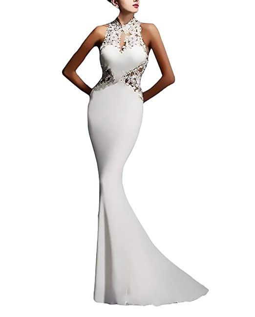 Huixin Mujer Vestidos De Fiesta Largos De Noche Elegantes Vintage Dresses Señoras Moderno Encaje Splicing Vestidos