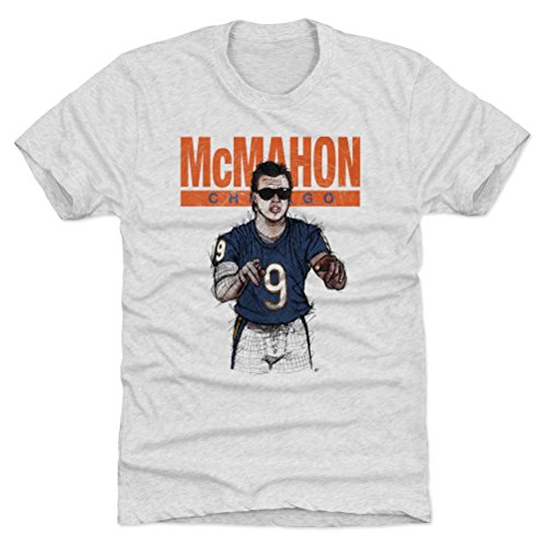 Jim Mcmahon Football - 500 LEVEL Jim McMahon Triblend Shirt X-Large Tri Ash - Vintage Chicago Football Men's Apparel - Jim McMahon Sketch B