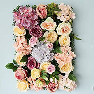 Love-huaqiang Flower Wall Backdrop-Simulation Fake Flower Decoration Background Wall Wedding Hotel Site Layout Landscaping Photography Background 4060 7